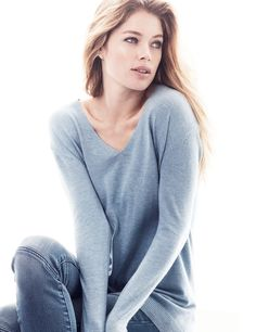 hm basics8 Doutzen Kroes Wears the Basics for H&M Style Update