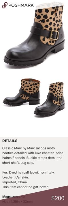 Marc by Marc Jacobs Moto Booties -Marc by Marc Jacobs, size 10, excellent condition, work only a few times, see photos for more information Marc By Marc Jacobs Shoes Combat & Moto Boots