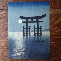 Koho Shoda Shrine Gate at Miyajima Original Japanese Woodblock Print RARE   eBay