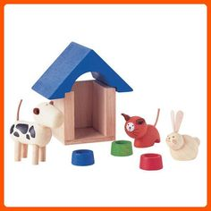 PlanToys Plan Dollhouse Pet and Accessories Furniture - Toys for little kids (*Amazon Partner-Link)