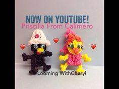 Rainbow Loom PRISCILLA Calimero's Girlfriend - Looming WithCheryl - YouTube