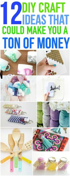 These 12 make and sell DIY craft ideas are a great way to earn extra income online! Pin for later!