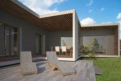 HAUS F+K | AL Architekt Pergola, Outdoor Structures, Patio, Outdoor Decor, Home Decor, House, Architecture, Decoration Home, Room Decor