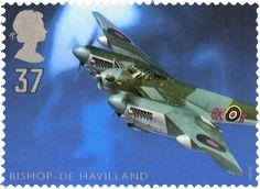 Ronald Bishop and de HAvilland Mosquito B MkXVI #SpecialStamp from 1997 'British Aircraft Designers'