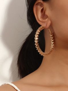 Gender: Women Material: Alloy Color: Gold Quantity: pcs Gender, Hoop Earrings, Simple, Gold, Jewelry, Women, Products, Jewlery, Jewerly