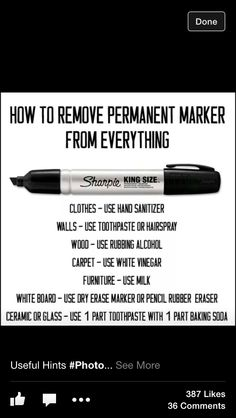 Funny pictures about How To Remove Permanent Marker. Oh, and cool pics about How To Remove Permanent Marker. Also, How To Remove Permanent Marker photos. Household Cleaning Tips, House Cleaning Tips, Diy Cleaning Products, Cleaning Solutions, Cleaning Hacks, Deep Cleaning, Household Cleaners, Diy Cleaners, Cleaning Supplies