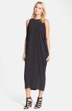 Eileen Fisher Scoop Neck Silk Dress available at #Nordstrom <-Love the dress....shoes not so much!