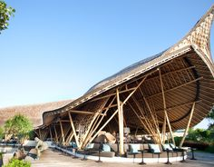 The bamboo roof at Suarga resort in Padang Padang is thought to be the largest in the world at 17,760 square feet.