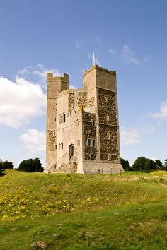 England Travel Inspiration - Orford Castle, Suffolk, England built between 1165 and 1173 by Henry II of England to consolidate royal power in the region. Beautifully preserved keep