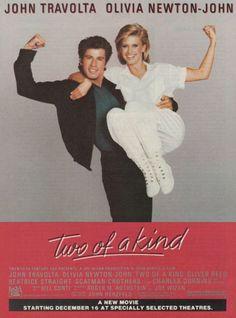 "1984 Two of a Kind Movie Ad ""John Travolta & Olivia Newton-John"""