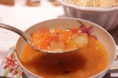 Sopa de Verdura de Nea - Vegetable soup - Segredos da Tia Emília.com.br :-)