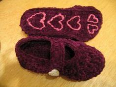 crochet slipper for kids