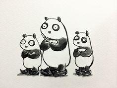 2014.3.15 【一日一大熊猫】 日本では靴は歴史上主流ではなかったけど 実はかなり古い時代から使われていたみたいだね。 聖徳太子二王子図なんかは先の尖った靴が描かれているよ。