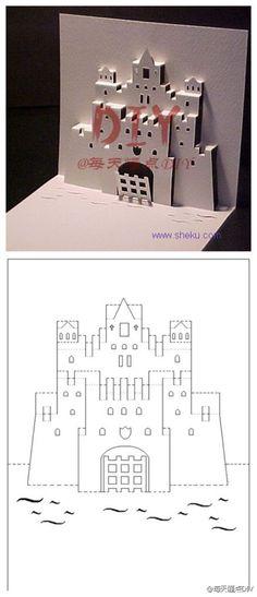 【创意卡片DIY】照着图纸 自己做一个创意的卡片吧