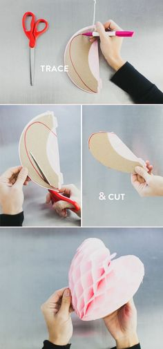 DIY idea! cut tissue paper balls into hearts #retaildetails