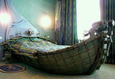 Amazing fantasy boat bed for kid's bedroom.
