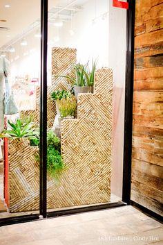 Anthropologie's cork window display