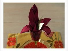 Easy Napkin Design - Lily Flower Napkin - YouTube