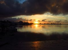 Dramatic sunset, Green Turtle Cay, Bahamas