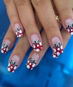 Find images and videos about nails, nail art and unhas on We Heart It - the app to get lost in what you love. Get Nails, Fancy Nails, Trendy Nails, Mickey Nails, Minnie Mouse Nails, Mickey Mouse, Image Nails, Finger Nail Art, Nagel Gel