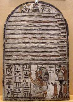 Stele of NebneferFrom Deir el-Medina 19th dynasty limestone. دكتور محمود حامد الحصري Dr-Mahmoud Hamid Elhosary : Turin Museum stelae