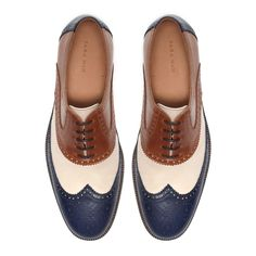 wing tip broque 3 coloured. - Zara // if only they made men's shoes in women sizes :c