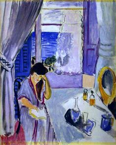 Анри Матисс «Читающая женщина за туалетным столиком». Художники-экспрессионисты. Биографии. Картины