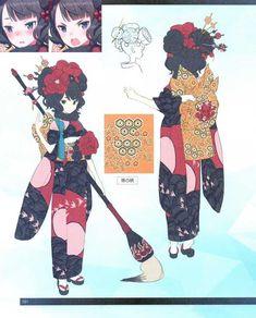 FGO -EoR III- (Shimosa), Chapter The Demon and the Rakshasa (Earth) (Translated) Character Concept, Character Art, Character Turnaround, Fate Stay Night Series, Character And Setting, Katsushika Hokusai, Fate Anime Series, Female Anime, Character Modeling