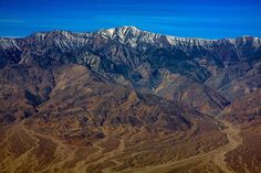 Telescope Peak, the highest point in both Death Valley National Park and the Panamint Range, as seen from the lookout at Dante's View.