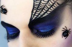 Halloween Eye Makeup - Spider