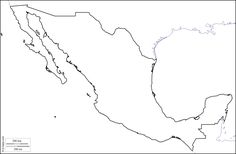 Mexico : free map, free blank map, free outline map, free base map : coasts, limits (white)