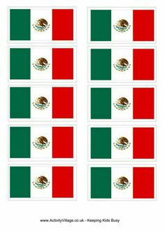 There is a full page poster and four smaller flags on our Mexico flag printable. Useful for lots of crafting and display purposes. Girl Scout Swap, Girl Scout Troop, Flag Coloring Pages, Printable Coloring Pages, Mexico Crafts, Mexican Flags, World Thinking Day, Mexican Party, Mexican Birthday