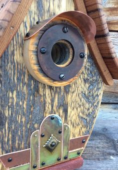 The Teardrop Birdhouse is made from authentic reclaimed barnwood obtained near my home in Western Wyoming in the Valley of Grand Teton National Park. My forest home is the inspiration for my unique one of a kind functional Birdhouses.  My Birdhouses are made to specification for all cavity nesting birds. Not only are these Birdhouses artfully designed, they are completely functional and ready for years of outdoor (or indoor), enjoyment. Our Birdhouses are built sturdy and of the finest…