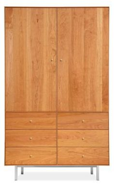 Room Board Hudson Armoires With Steel Base