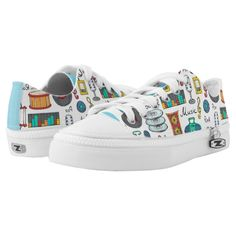 Illustrated music objects Low-Top sneakers