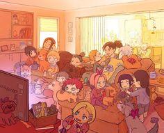 Gaara and Kakashi are just so adorable in this pic 😻 Hinata Hyuga, Naruto Uzumaki, Anime Naruto, Art Naruto, Naruto Cute, Naruto Funny, Shikamaru, Otaku Anime, Anime Manga