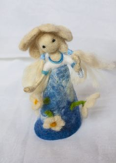 Dolls – Needle felted Waldorf inspired doll Spring fairy – a ...