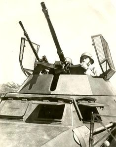 Chinese soldiers in the turret of the armored car Sd.kfz.222,purchased by China in Germany. Pin by Paolo Marzioli