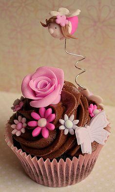Pink fairy cupcake