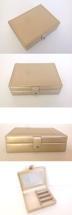 Multi-Purpose 168165: Pottery Barn Mckenna Travel Jewelry Box Gold Made By Wolf New -> BUY IT NOW ONLY: $39 on eBay!