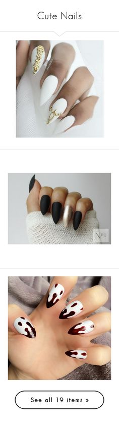 """""""Cute Nails"""" by jaden-norman on Polyvore featuring beauty products, nail care, nail treatments, nails, beauty, makeup, nail polish, nail art, nail wraps and shiny nail polish"""