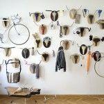 similar to Pablo Picassos tete de taureau. Hunting Trophies: Repurposed Vintage Bike Parts Converted into Functional Taxidermy Racks
