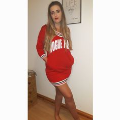 Fashion Red Dress Jumper Dress, Photo And Video, Red, Beauty, Instagram, Tops, Dresses, Fashion, Vestidos