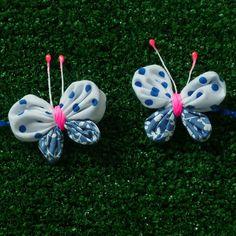 Fabric yoyo butterflies.