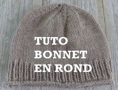 Bonnet Crochet, Top Down, Beret, Knitted Hats, Beanie, Wool, Knitting, Point Mousse, Recherche Google