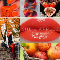 She's Apples LipSense is a limited edition color that is a vibrant fiery orange-red matte