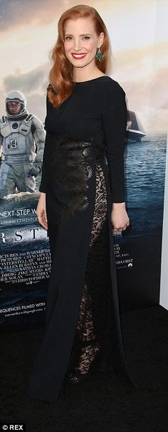 Jessica Chastain in Givenchy Couture - At the premiere of 'Interstellar' in Hollywood.  (October 2014)