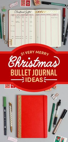 Creative Holidays: 21 Very Merry Christmas Bullet Journal Ideas ~ Bujo holiday spreads and trackers ~ planner layout ideas for Christmas #bujochristmas #bulletjournalideas