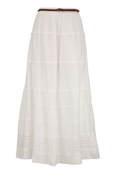 Belted Eyelet Maxi Skirt available at #Maurices