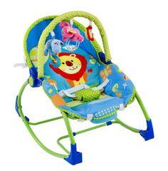 Hamaca de bebe mecedora elefante verde King Baby [814] | 65,80€ : La tienda online para tu peke | tienda bebe pekebuba.com
